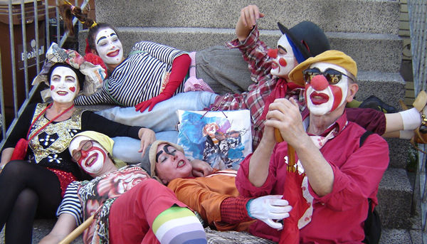 Clown Paula, Clownin Matinta, Clown Kara, Clown Anjol, Närrin Rabazza, Clown Agathe